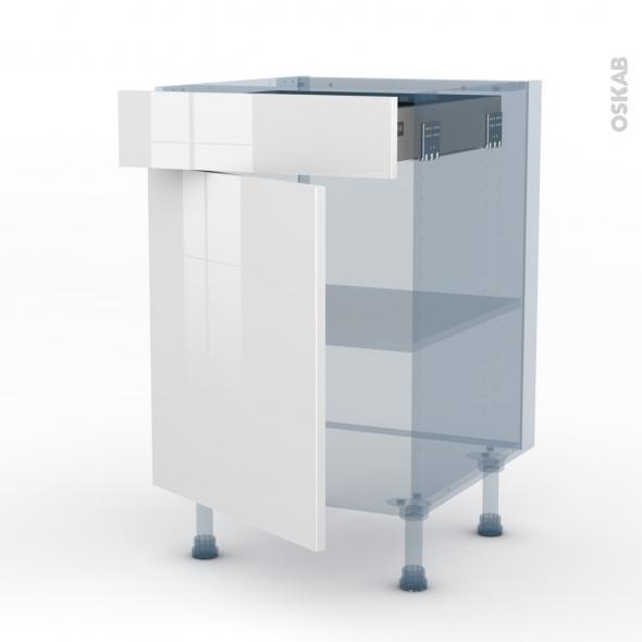 bora blanc kit renovation 18 meuble bas cuisine 1 porte 1 tiroir l50xh70xp60