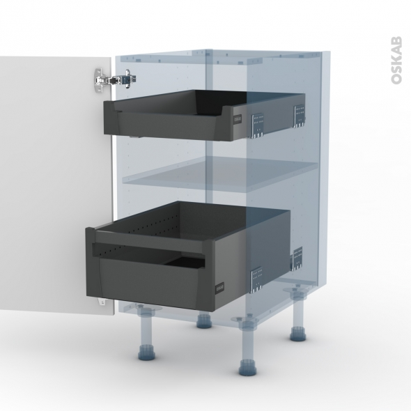 bora blanc kit renovation 18 meuble bas 2 tiroirs a l anglaise l40xh70xp60