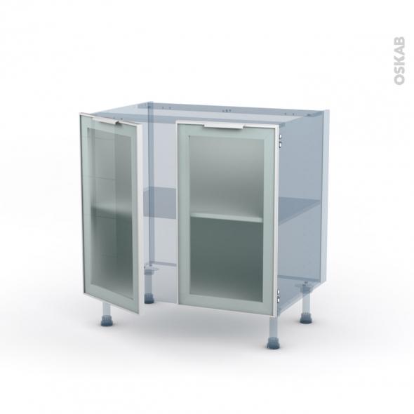 sokleo facade alu blanc vitree kit renovation 18 meuble bas cuisine 2 portes l80xh70xp60