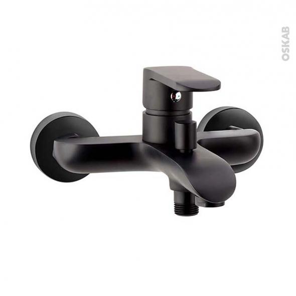 robinet baignoire lima mecanique noir