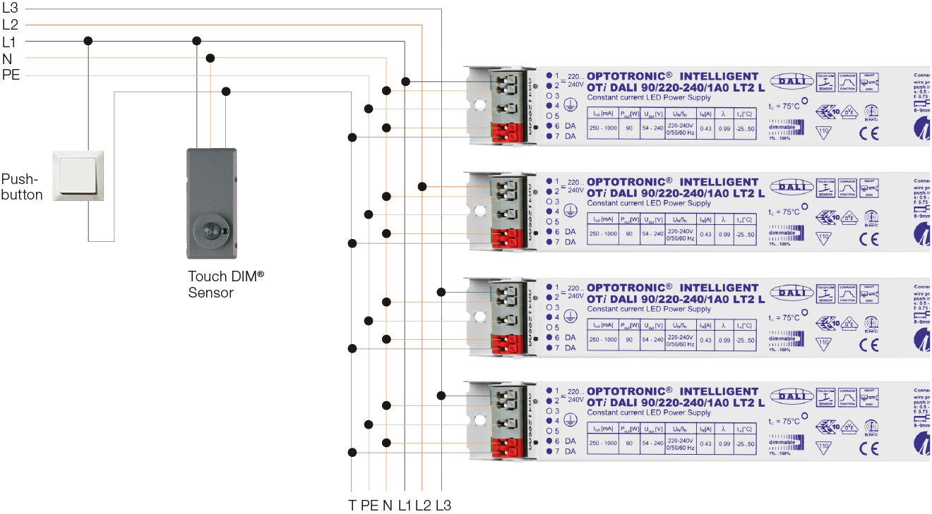 hight resolution of digital systems light is osram osram oti dali wiring diagram
