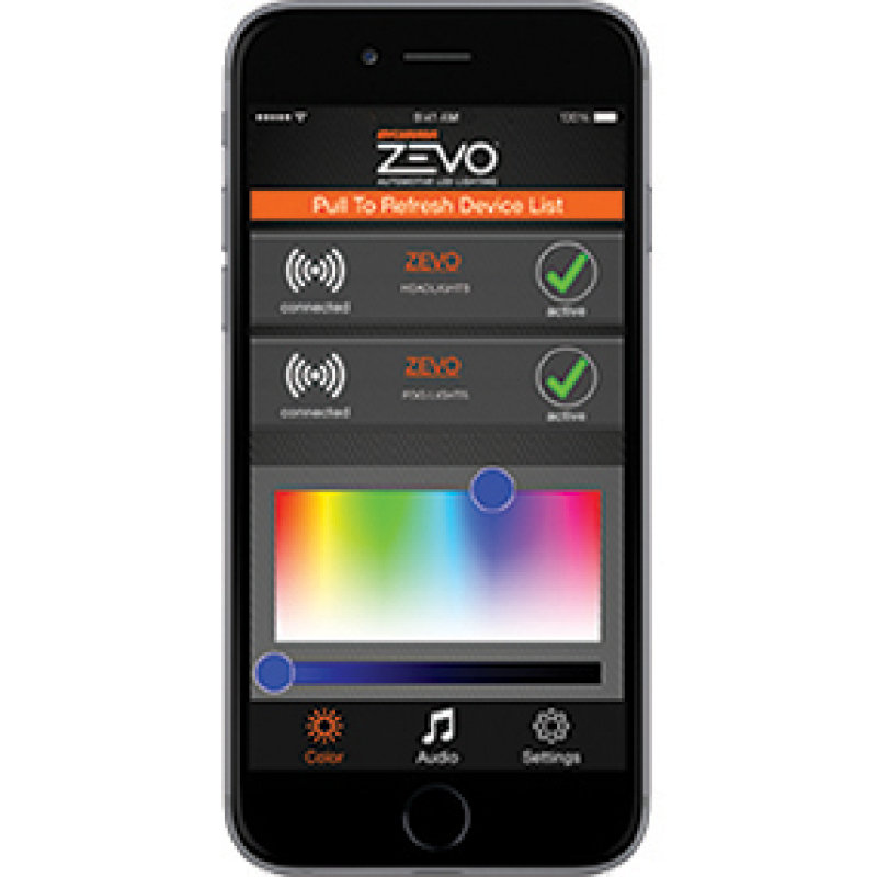 zevo connect color changing app