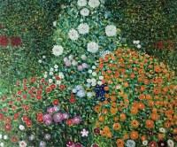 Gustav Klimt, Flower Garden - Hand Painted Oil Painting on ...