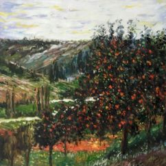 Large Canvas Art For Living Room Paint Ideas 2016 Claude Monet, Apple Trees In Bloom At Vetheuil 1887 - Hand ...
