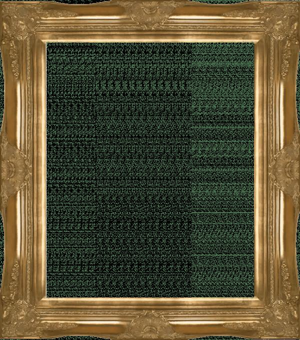 Victorian Gold Frame Transparent