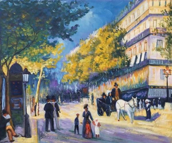 Great Boulevards Painting Pierre-auguste Renoir