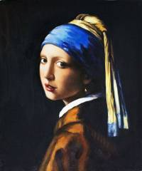 Vermeer, Girl with a Pearl Earring - Oil Painting