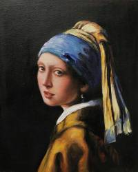 Painting The Girl With The Pearl Earring - Defendbigbird.com