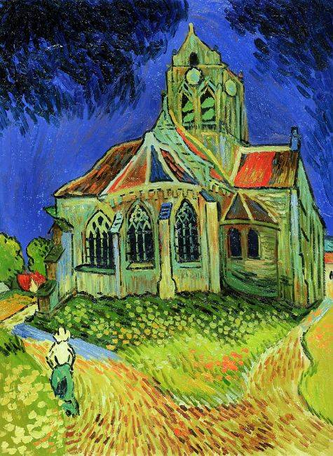 The Church at Auvers  Vincent Van Gogh Reproduction