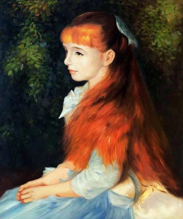 Renoir Irene Cahen 'anvers - Oil Painting Canvas