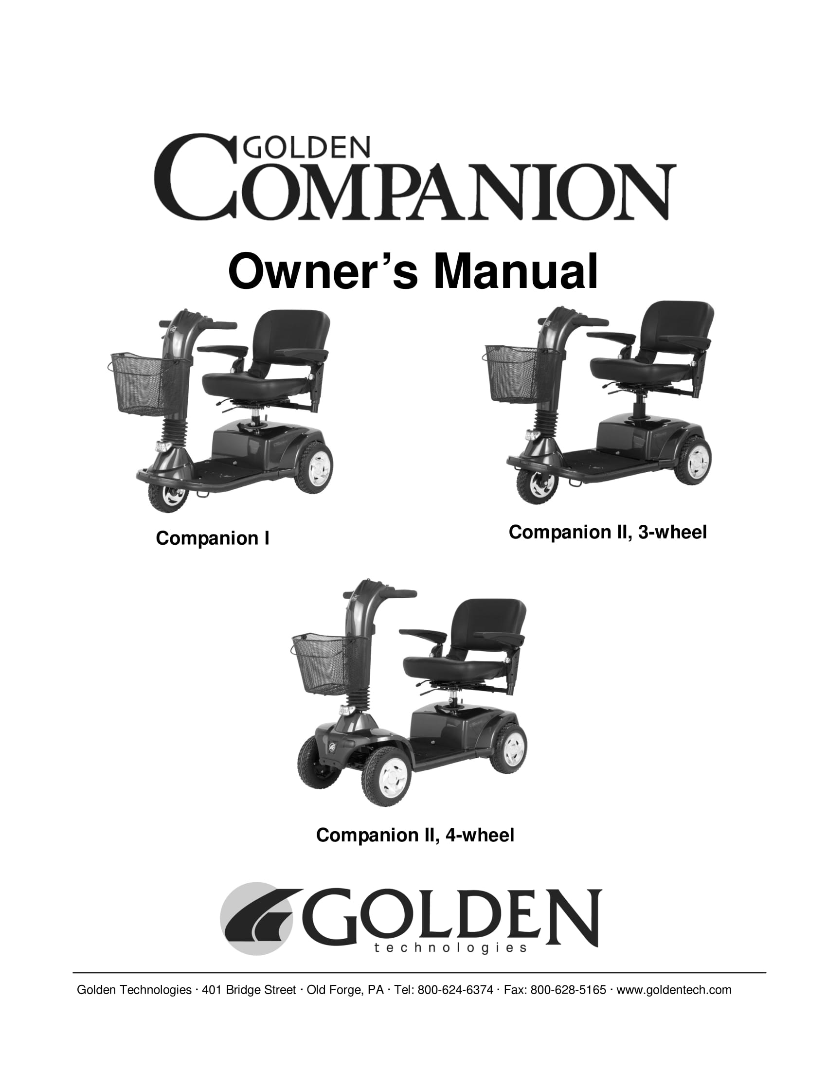 Golden: Companion II 3-Wheel Scooter