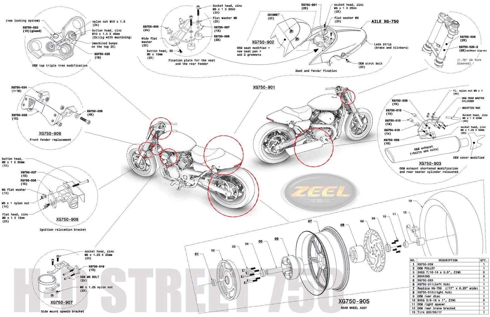 Street 750 parts list