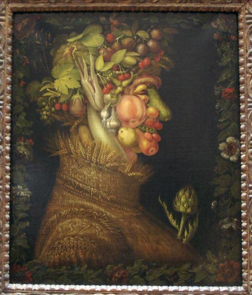 Les quatre saisons d'Arcimboldo: portraits en fleurs et fruits
