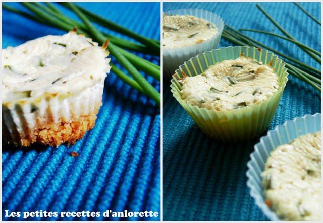 Idée plateau apéro#4 : La rencontre d'un cheese cake et d'un flan aux herbes fraîches