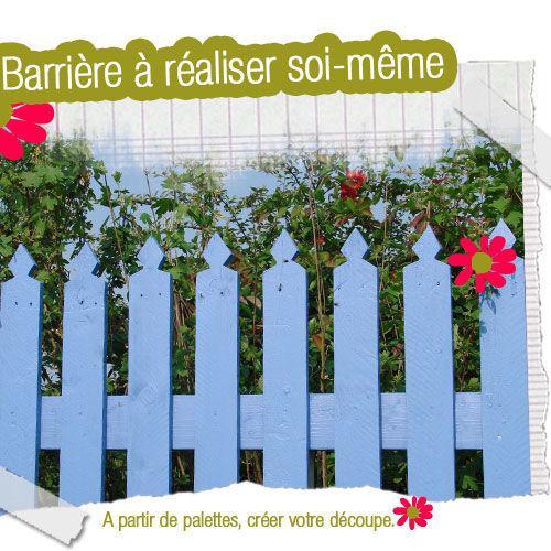 Fabriquer un barrire de jardin   Voir