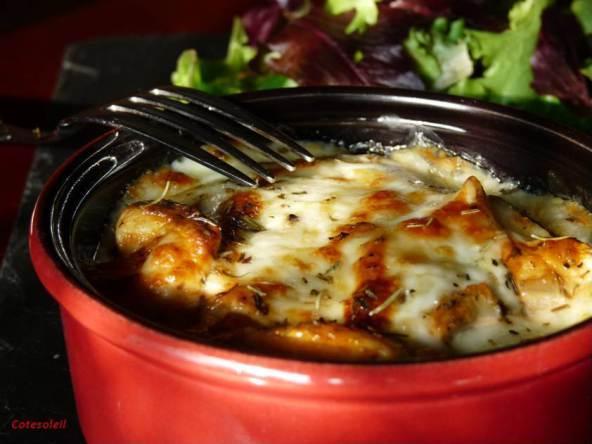 Cassolette de poulet coppa mozza