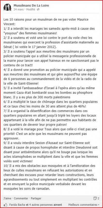 Musulmans de la Loire. le post JPG 398x800 Elections à Saint Etienne : Musulmans de la Loire, les raisons de la colère