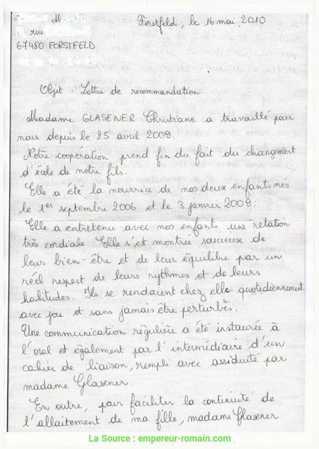 Modèle de lettre : Attestation en justice ou lettre de