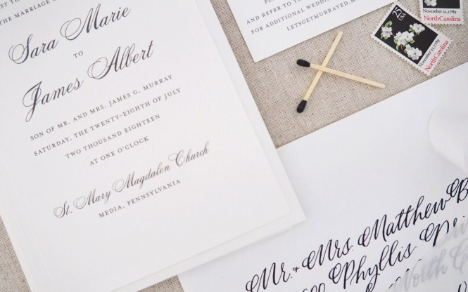 Lets Address It Calligraphy Vs Printed Wedding Invitation