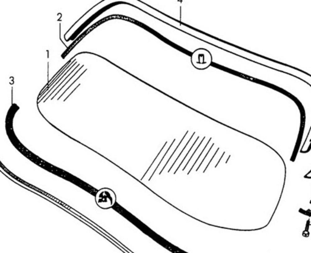 medium resolution of 356 speedster windscreen clear