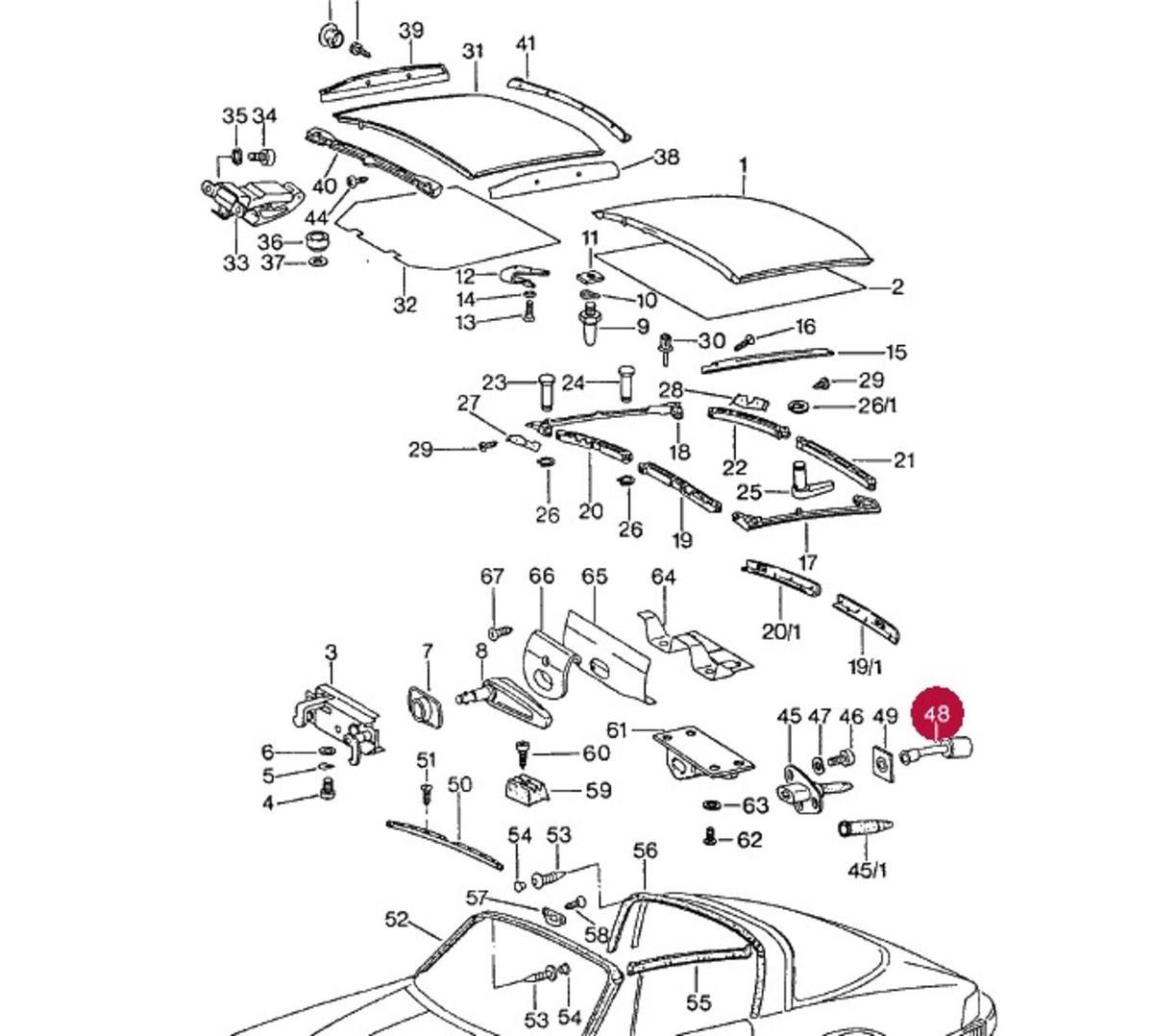 911 Targa (74-94) Silentbloc bearing for rear mounting peg