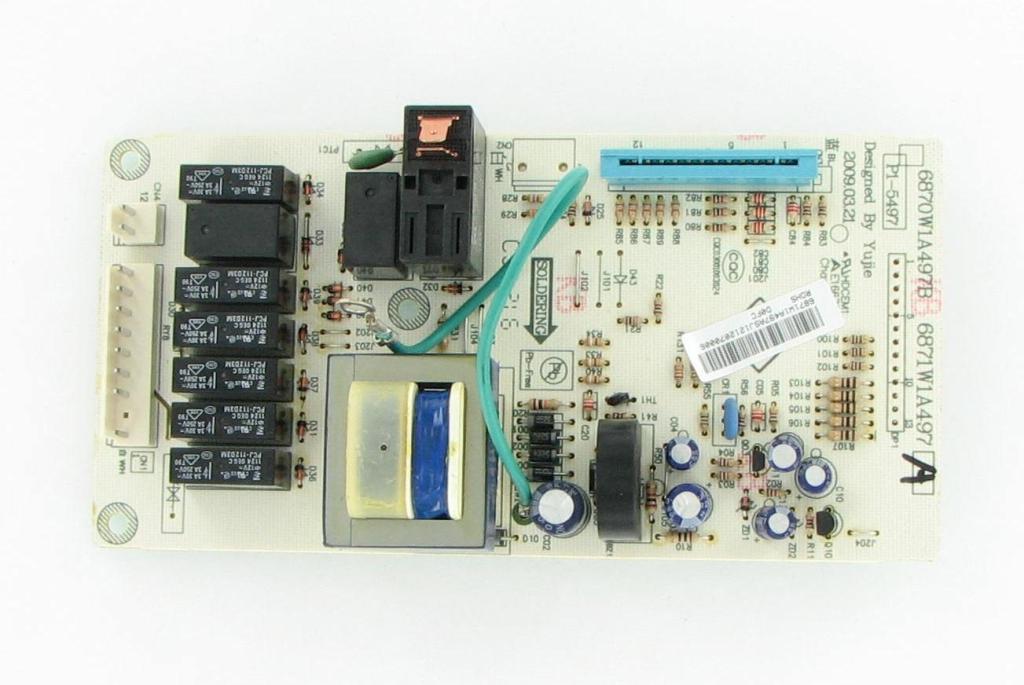 lg goldstar 6871w1a497a microwave control board