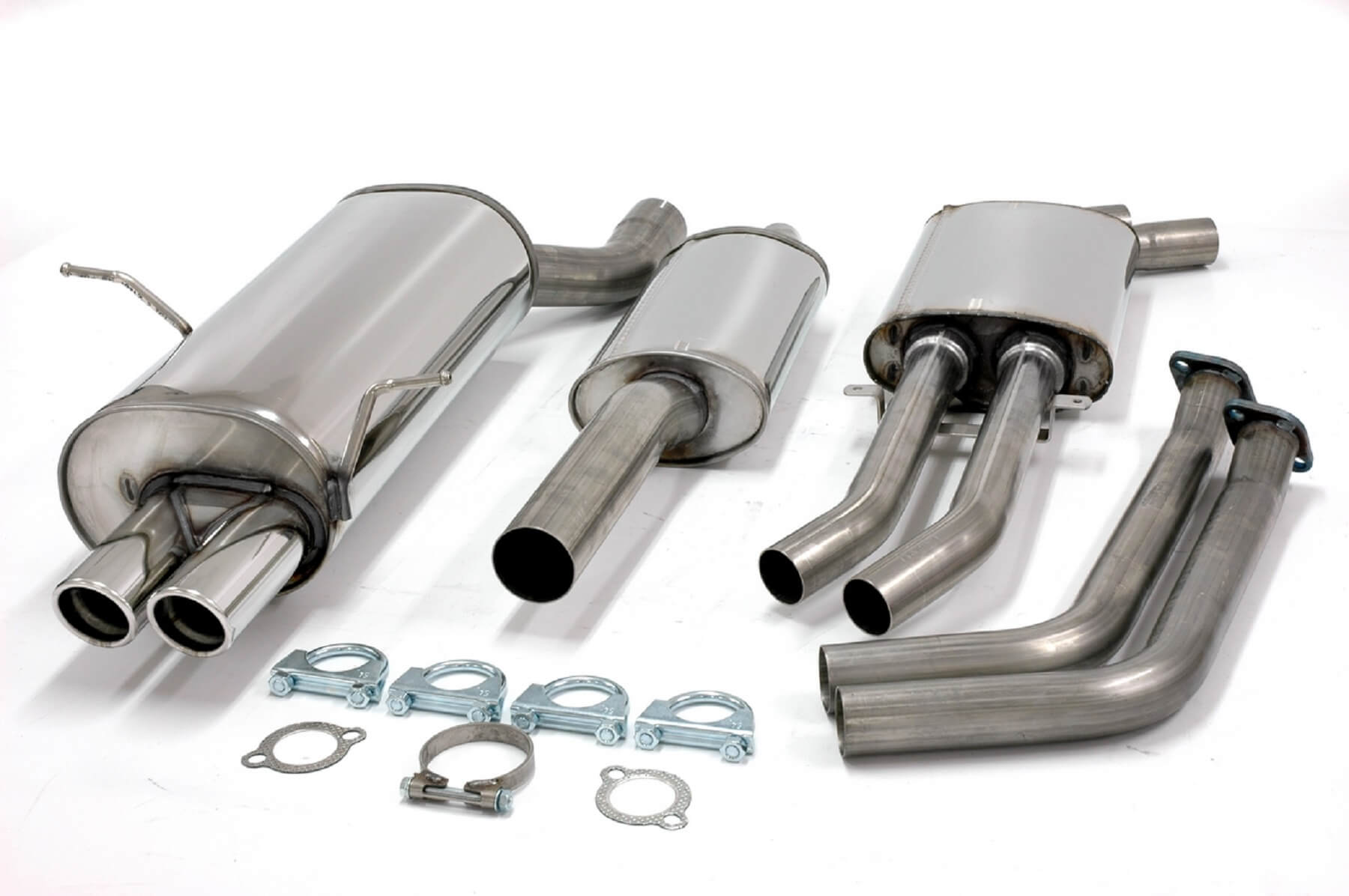 bmw 320i 325i 330i e46 jetex performance half exhaust system stainless steel with twin round 70mm tail pipes ec