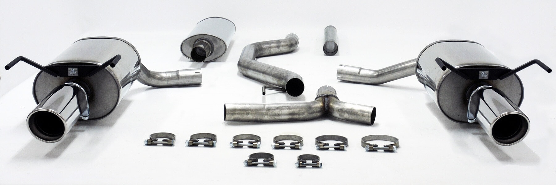 saab 9 3 2 0t 2 8t aero jetex performance stainless steel cat back exhaust system with dual round 100mm tail pipes