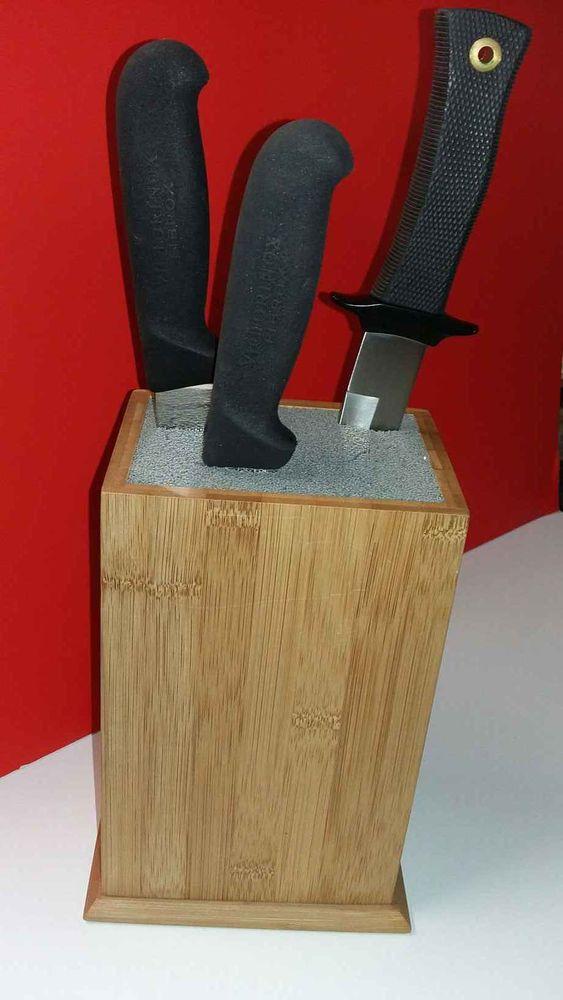 bloc porte couteaux 10 20 pieces en bambou a 80