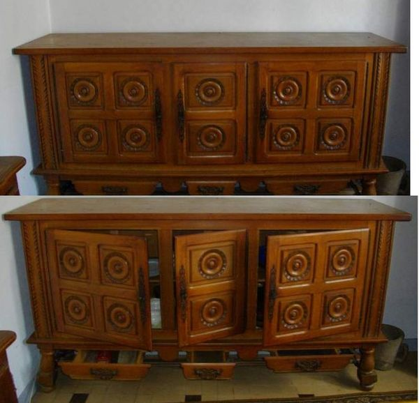 buffet en ch ecirc ne massif type basque 3 portes meubles