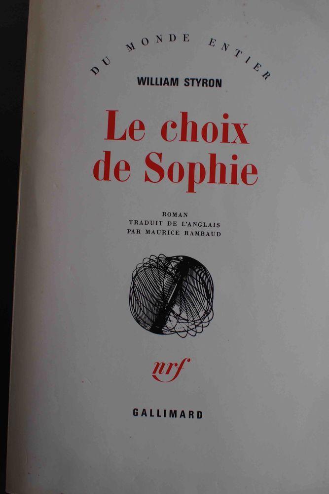 Le Choix De Sophie Livre : choix, sophie, livre, Achetez, Choix, Sophie, Occasion,, Annonce, Vente, Rennes, WB161481194