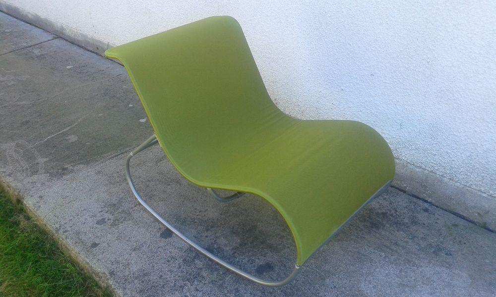 fauteuil a bascule jardin ou interieur ikea vert anis a 25