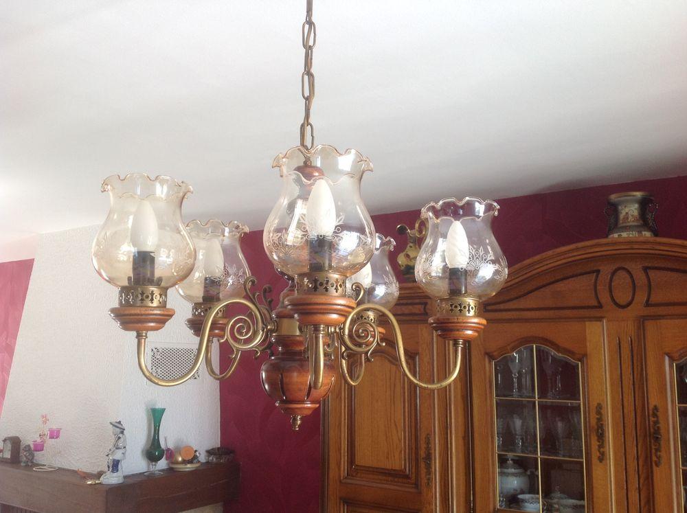 lustre rustique en bois massif a 50