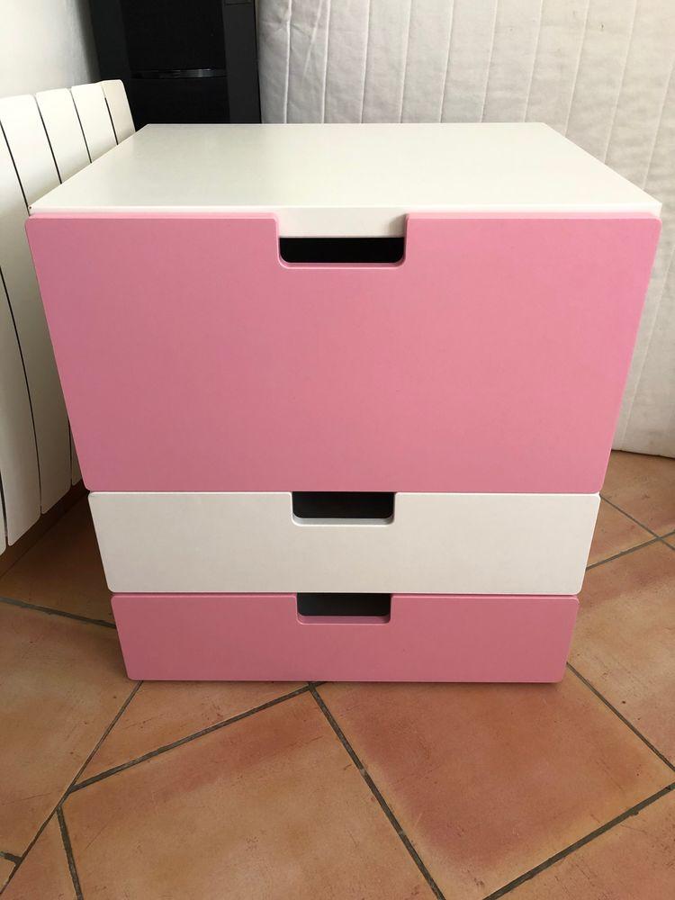 meuble rangement ikea blanc rose a 20