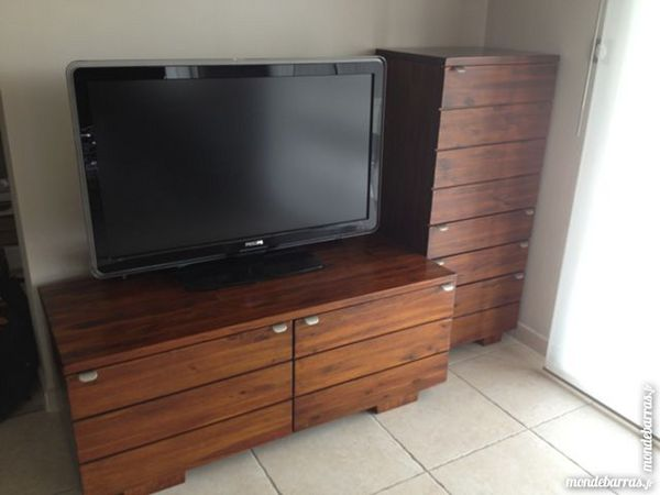 meubles tv hifi en bois exotique a 410