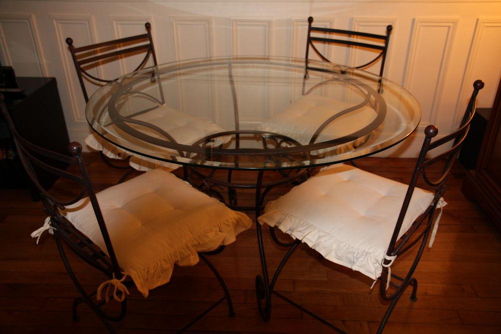 Salon De Jardin Table En Verre Et Fer Forg Eacute Meubles