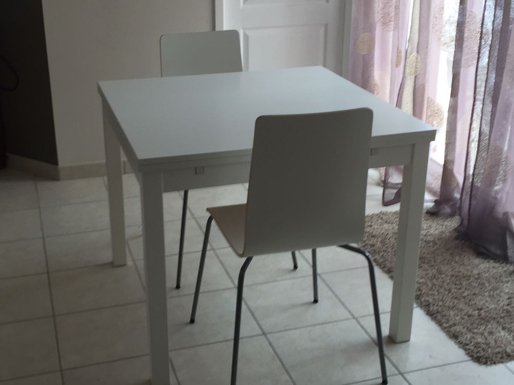 table a manger extensible 2 chaises ikea a 100