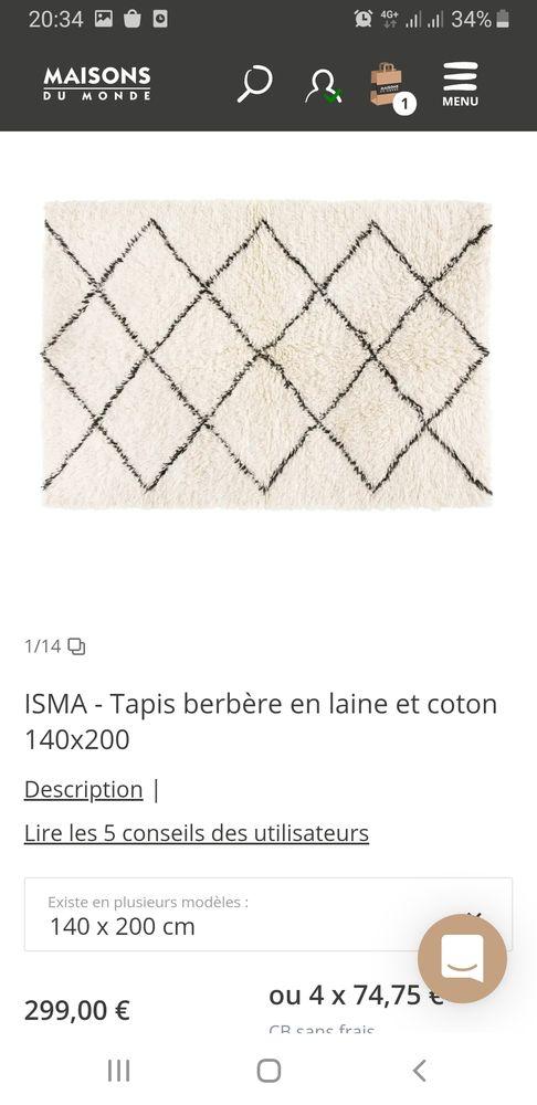 achetez tapis berbere neuf revente