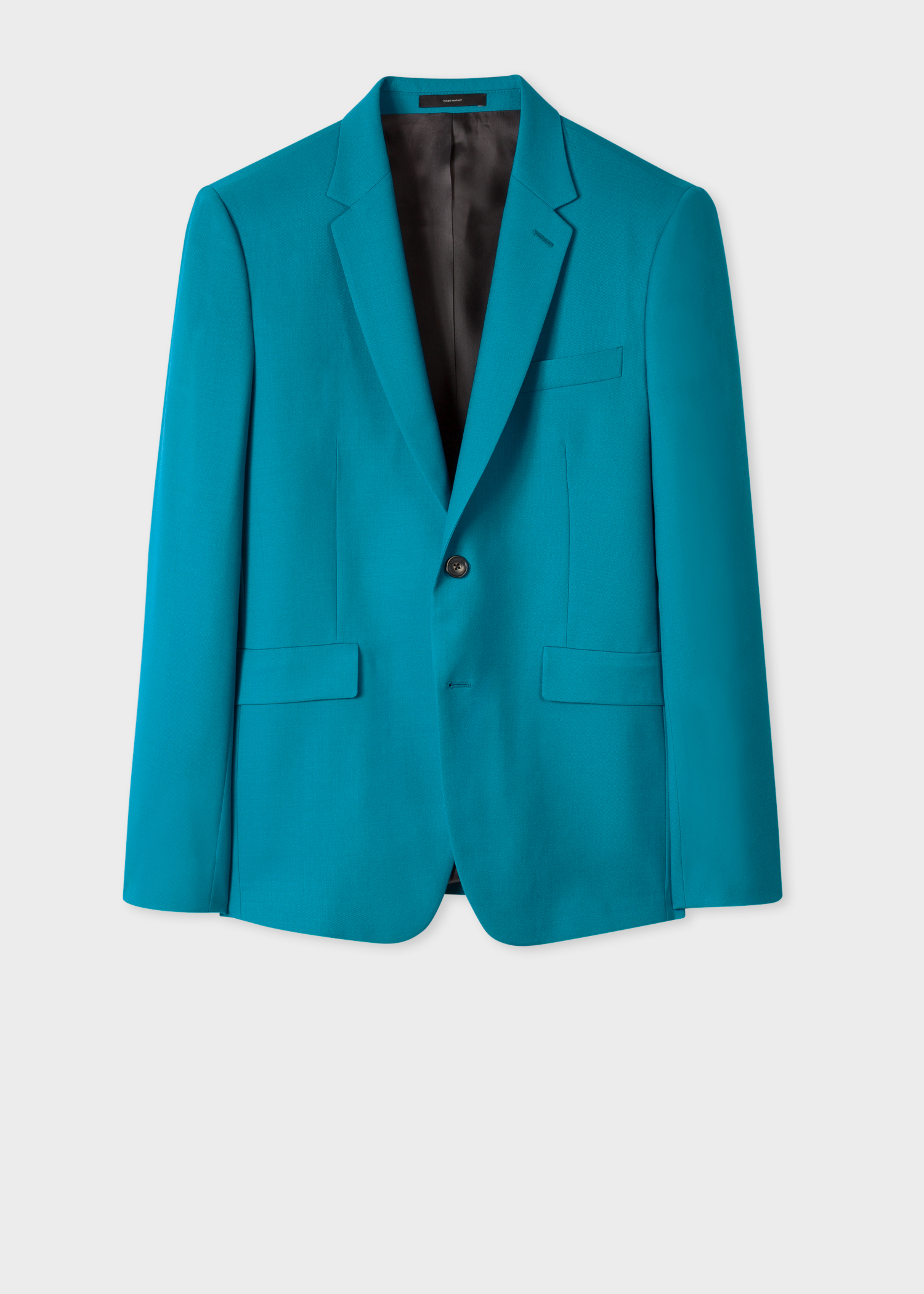 The Kensington  Mens SlimFit Turquoise Wool A Suit To