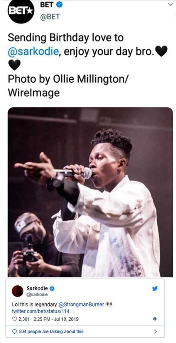 824966390 359526 - Sarkodie's Response To BET Posting A PHOTO Of StrongMan Instead Of His For Birthday Wish