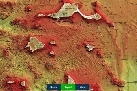 Archipel des Glénan en vue Relief Shading