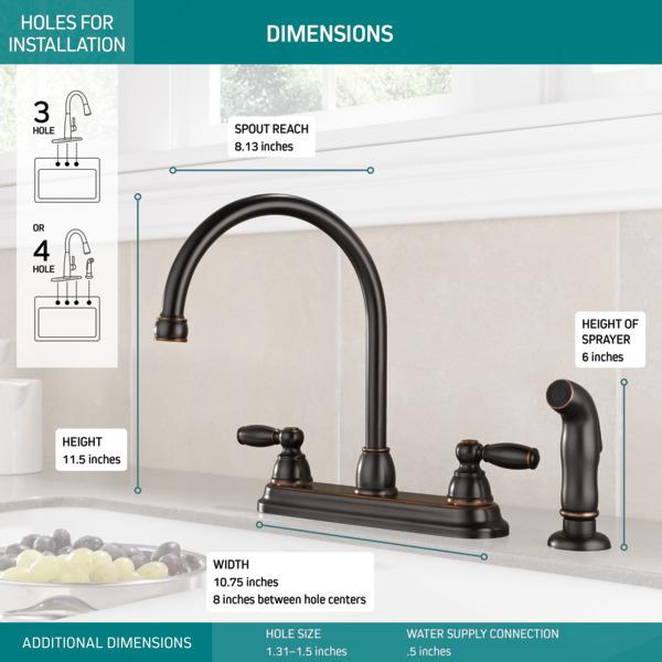 p299575lf ob two handle kitchen faucet