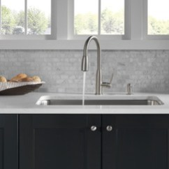 Water Efficient Kitchen Faucet Remodels Ideas P88103lf-sssd-l - Single Handle Pull-down