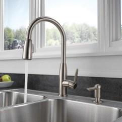 Peerless Kitchen Faucet Parts 19x33 Sink P88103lf-sssd-l - Single Handle Pull-down
