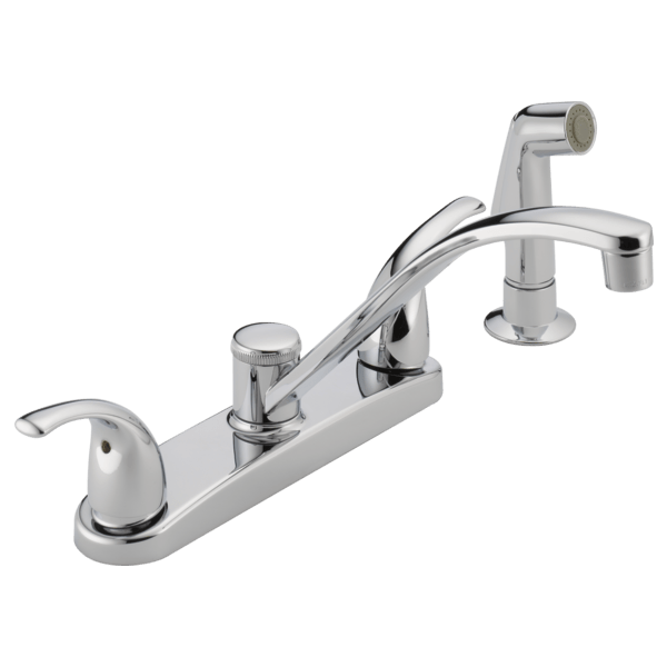 two handle kitchen faucet apron front sink p299508lf