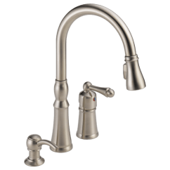 Faucet Kitchen New Decorating Ideas P88105lf Sssd Single Handle Pull Down