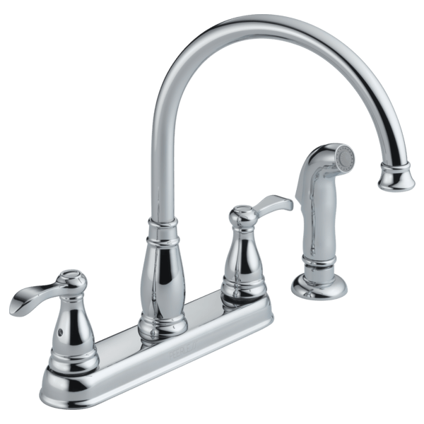 two handle kitchen faucet repair deep sink p99500lf - with spray