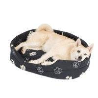 Pets at Home Paw Oval Dog Bed Black Large | Pets At Home
