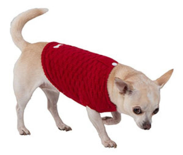 Image For Wag A Tude Red Check Extra Extra Small Dog Sweater From Pets