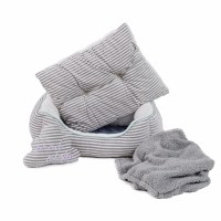 Just For Puppy Stripe Bedding and Blanket Set Grey | Pets ...